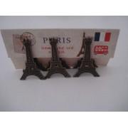 Clipe Prendedor De Papel Torre Eiffel 3 Peças
