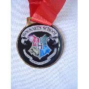 Medalha Harry Potter Hogwarts Coleção Cosplay