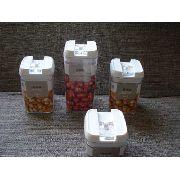 Conjunto 4 Potes Vacuo Hermético Conserva Alimentos