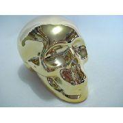 Cofre Cranio Caveira Dourado Espelhado