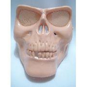 Mascara Full Face Skull Vintage Caveira Bege