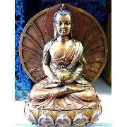 Enfeite Resina Buda Estátua 24cm Decoração