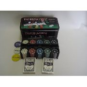 Kit Poker 200 Fichas Baralho Dealer