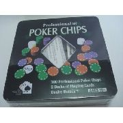 Jogo Para Poker Chips Professional Profissional Na Lata Luxo