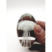 Enfeite Vidro Peso Papel Agua Viva Caravela Decoração 6cm