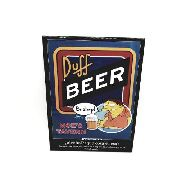 Placa Metal Os Simpsons Barney Duff Beer 26x20cm