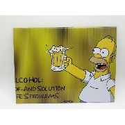 Placa Metal Os Simpsons Homer Cerveja Beer 26x20cm