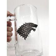 Caneca Game Of Thrones Coleção Stark Winter Is Coming Vidro