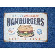 Placa Metal Vintage 30x20 Jack Hamburguers Decoração Coleção