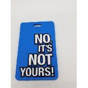 Etiqueta Identificação Malas No Its Not Yours Azul Viagem