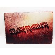 PlacaMetal Iron Maiden Rock N' Roll 30x20cm