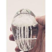 Enfeite Agua Viva Caravela Vidro Decoração 10x6cm Murano 5
