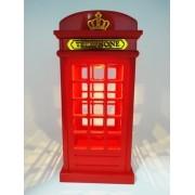 - Abajur Cabine Londres Luminaria Retro Vintage