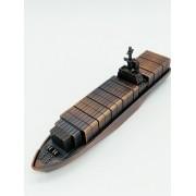- Apontador Metal Navio Cargueiro Container Coleção