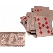 - Baralho Bronze Plastico Folheado Poker Truco Cartas Jogos