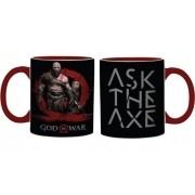 - Caneca Cerâmica God Of War Kratos Ask The Axe 300ml