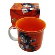 - Caneca Dragonball Z Zona Criativa Goku Laranja Cerâmica