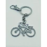 - Chaveiro Inox Bicicleta Vintage Bike Retro Com Gancho