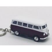 - Chaveiro Metal Kombi Clássica Miniatura Vinho 7cm