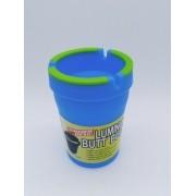 - Cinzeiro Copo Azul Brilha No Escuro Higiênico Anti Chama