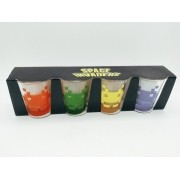 - Conjunto Copos Shot Space Invaders 50ml 4 Peças Game Drink