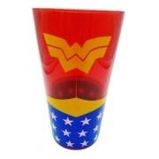 - Copo De Vidro Mulher Maravilha Liga Justiça Drink Dc Coleção