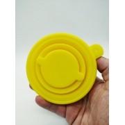 - Copo Dobrável De Silicone Retrátil 200ml Amarelo