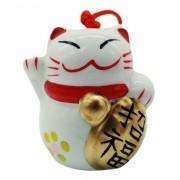 - Enfeite Ceramica Gato Da Sorte Estátua 7cm Decoração