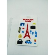 Etiqueta Identificação De Malas Paris Viagem Bagagem Bolsas