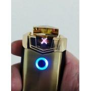 - Isqueiro Luxo Arc Plasma Carregamento Usb Jobon Gold