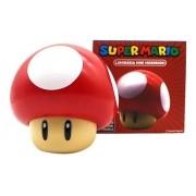 Luminária Mesa Cogumelo Com Som Super Mario Bros Original
