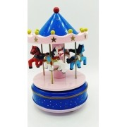 - Mini Carrossel Caixinha Musical Azul/rosa