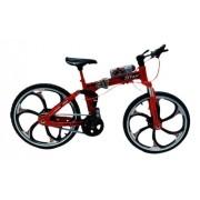 Miniatura Bicicleta Moutain Bike Mini Vermelha Crazy Aero