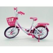 - Miniatura Bicicleta Passeio Cesta Bike Garupa Die Cast Rosa