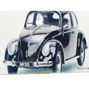 - Placa Metal Fusca Preto Beetle Street 27x20cm Vintage Volks