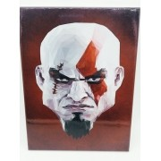 Placa Metal God Of War Kratos 27x20cm Head Game