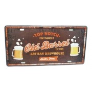 Placa Metal Vintage 31x17 Bebida Cervejaria Top Beer Cerveja