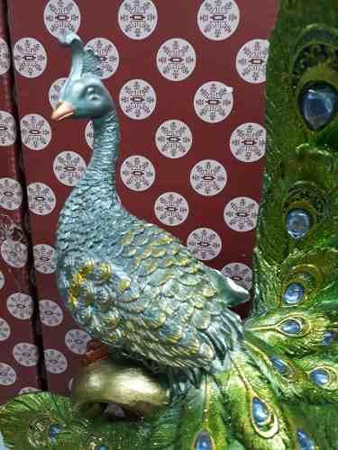 Estatua Resina Pavão 29x31cm Decoração Coleção  - PRESENTEPRESENTE