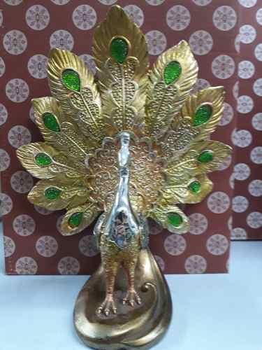 Estatua Resina Pavão 25cm Decoração Coleção  - José Geraldo Almeida Marques