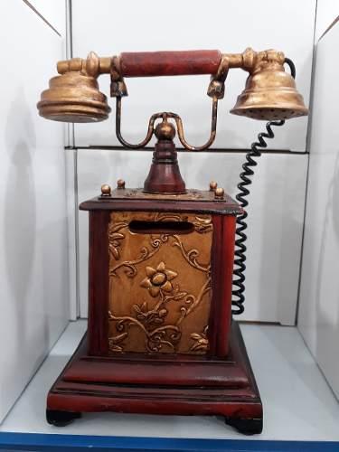 Cofre Resina Telefone Discagem Miniatura Vintage Retro  - PRESENTEPRESENTE