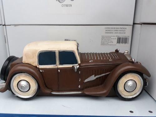 Cofre Resina Carro Calhambeque Vintage Retro  - PRESENTEPRESENTE