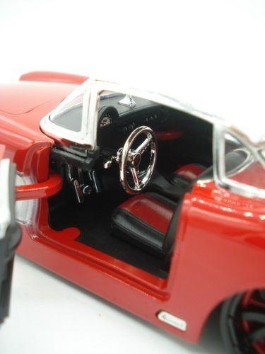 Carrinho Metal Chevy Corvette 1957 Big Time Vermelho  - PRESENTEPRESENTE