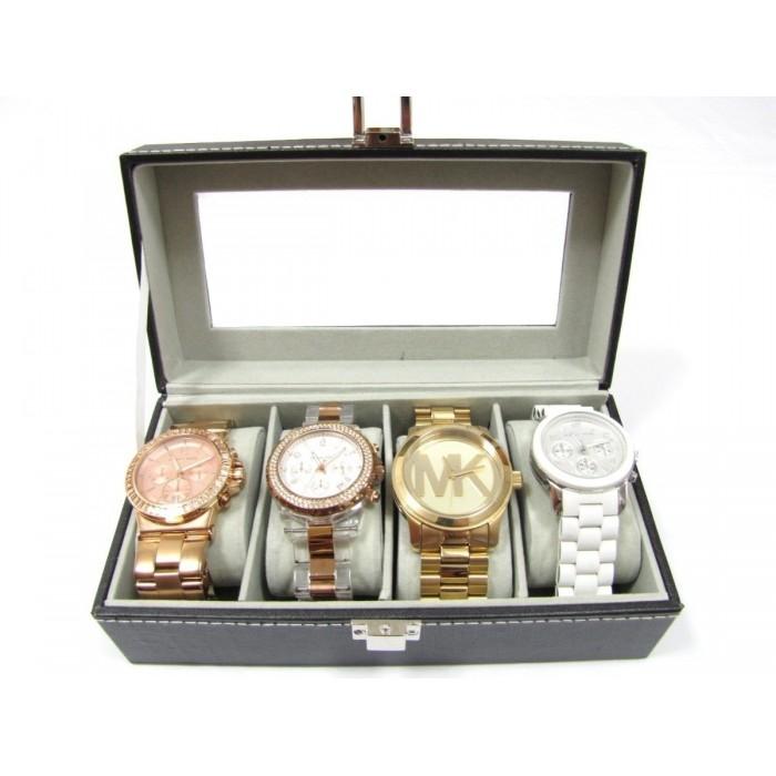 Caixa Estojo Para 4 Relógios Organizador Luxo  - PRESENTEPRESENTE