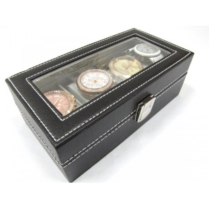 Caixa Estojo Para 4 Relógios Organizador Luxo  - José Geraldo Almeida Marques