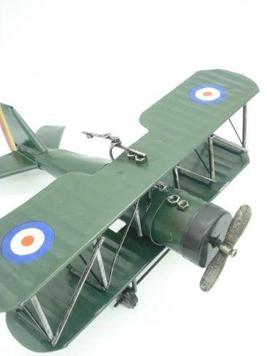 Avião De Guerra Miniatura Metal Verde 30cm  - PRESENTEPRESENTE