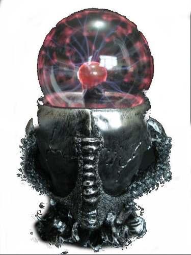 Globo De Plasma Caveira Garra Crânio Plasma Sphere Bola  - PRESENTEPRESENTE