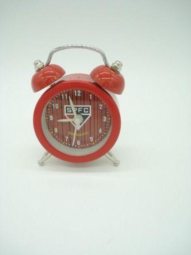 96f117c2cf5 Mini Relógio Despertador Tradicional São Paulo Retro Antigo -  PRESENTEPRESENTE