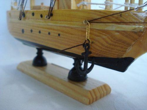 Barco Caravela Veleiro Madeira Tecido Decorativa Presente  - José Geraldo Almeida Marques