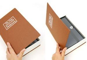 Cofre Em Forma Livro Dicionario Aço Joias Dinheiro Camuflado 17,5 X 10,5 X 3,5cm  - PRESENTEPRESENTE