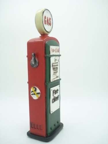 Cofre Resina Bomba De Gasolina Gas Station Vintage Retro  - PRESENTEPRESENTE